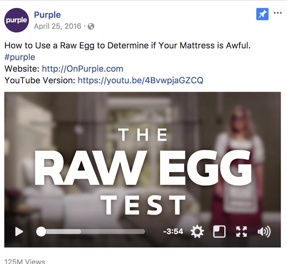 Intriguing video facebook ad