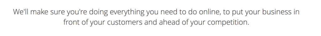 Marketing Agency, into text example