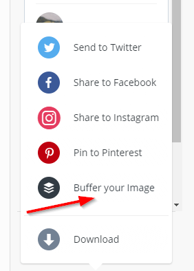 Use Buffer to share an image to your social accounts