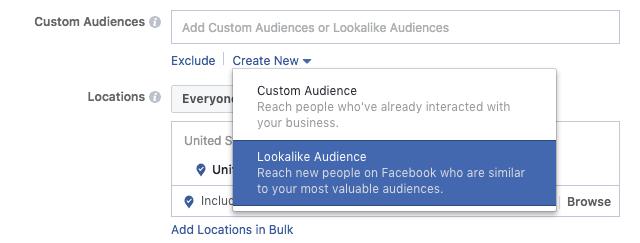 Creating lookalike audience