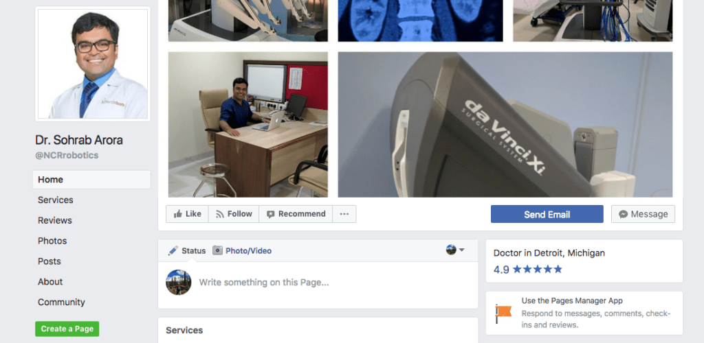 Compose your facebook cover photo out of locations where you can offer telemedicine services