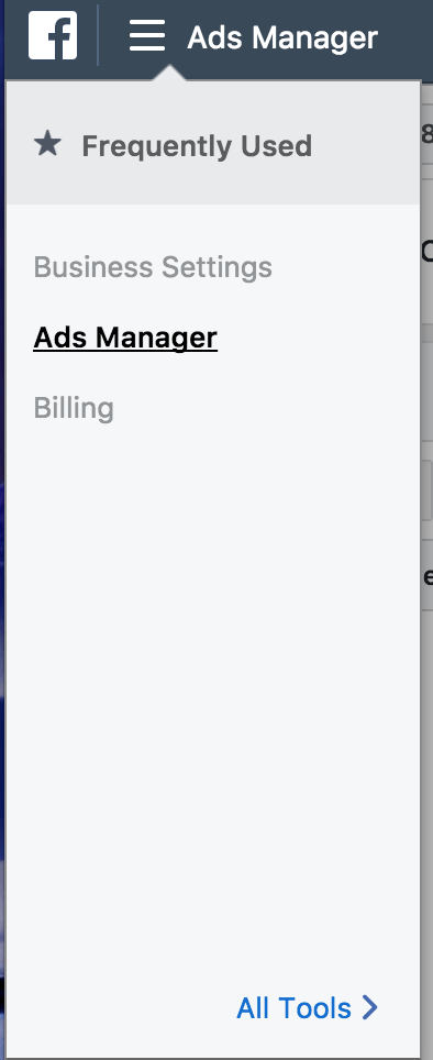 Go to Business Manager account, and clicking on Ads Manager to check on your facebook ad performance