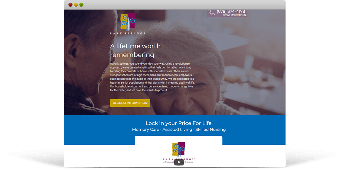 Assisted Living Landing Page
