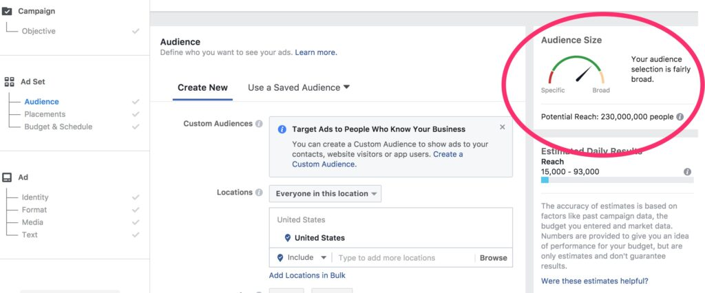 Facebook Audience Indicator