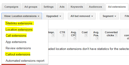 For better results include Call and Location extensions in your google adwords campaign