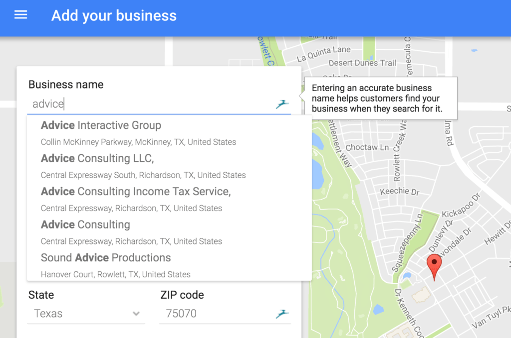 Check if your business is already listed on google
