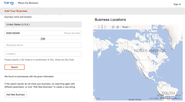 Claim Your Business on Bing