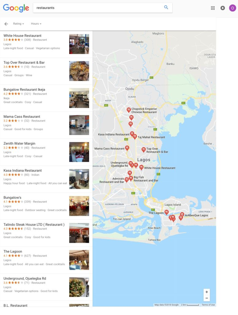 Google Map Pack More Results