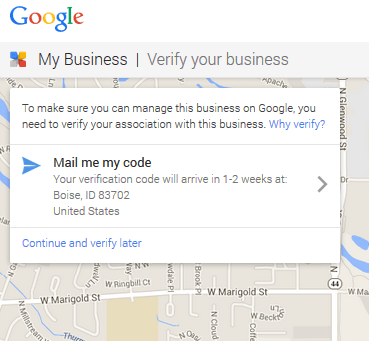 Verify your local business location
