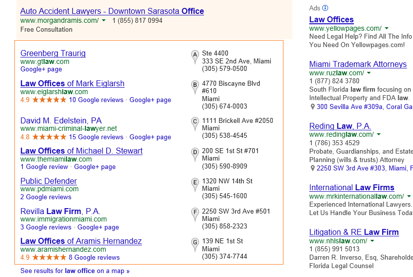 Local Business Search Google Results Page