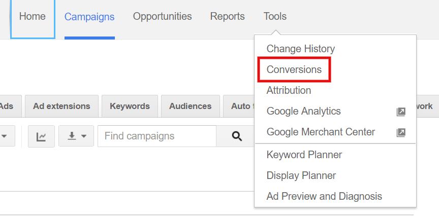 Set up conversion tracking