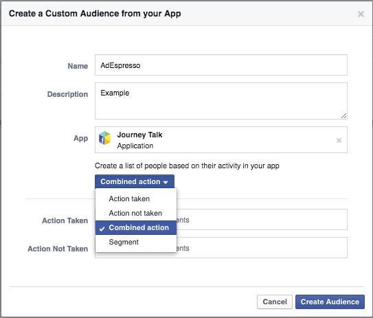 Create custom audience from app