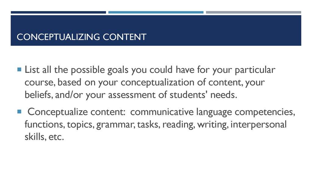 Conceptualizing content