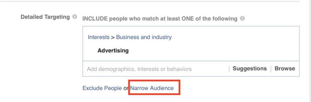 Narrow Audience Option