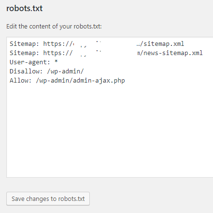 Robots text file