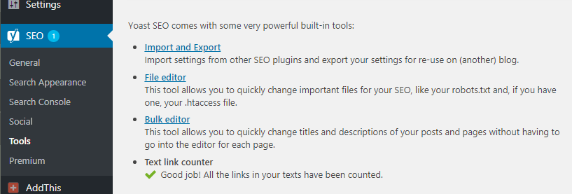 Yoast File Editor