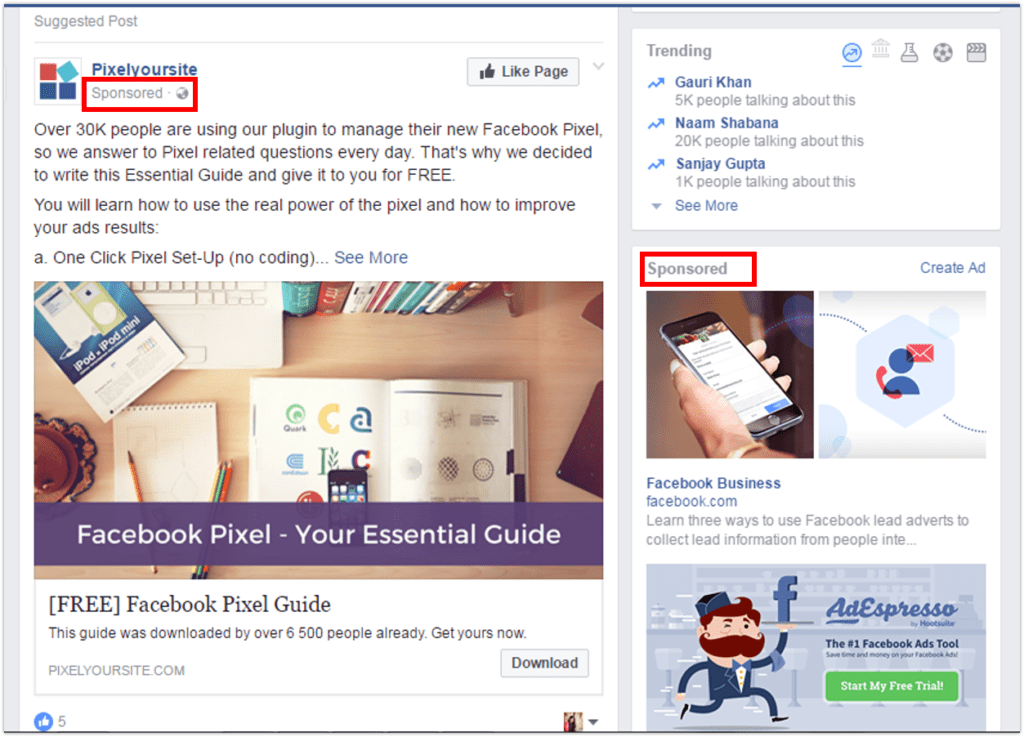 Facebook Pixel, Facebook Ads