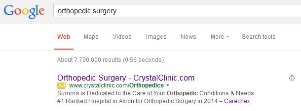Healthcare PPC Ad