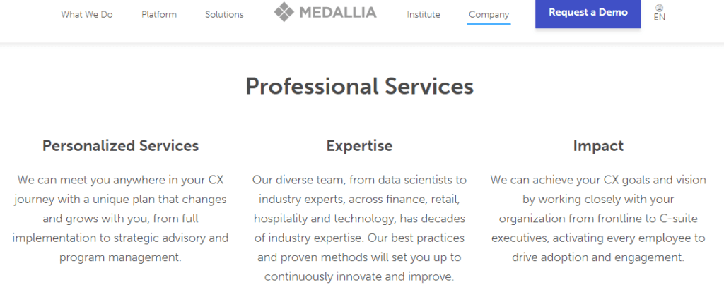 Services Page Real Life Example