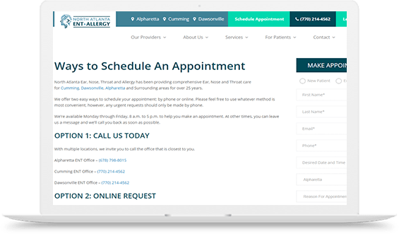 NAENTA Scheduling Appointment