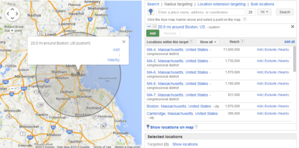 Setting Up Radius for your location