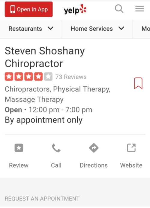 Local Business Yelp Page