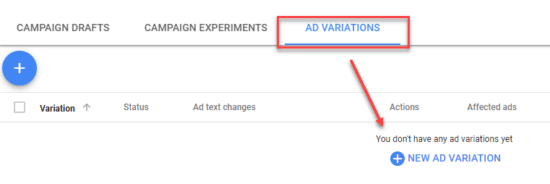 Creating Ad Variations