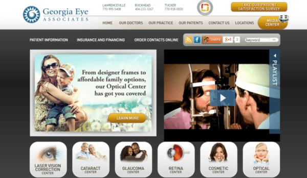 Georgia Eye geotargeting showcase