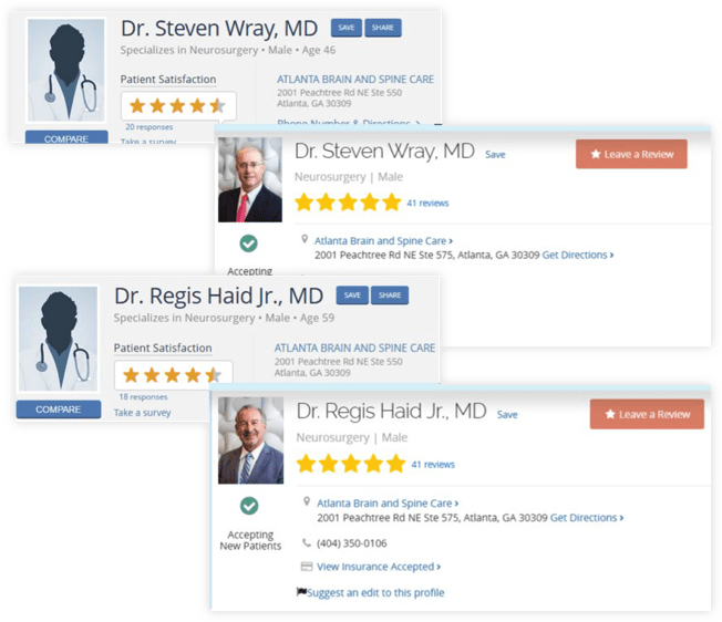 Atlanta Brain and Spine Neurosurgeons Reviews