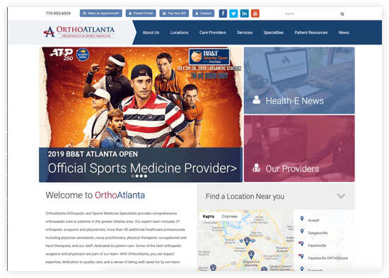 OrthoAtlanta Website
