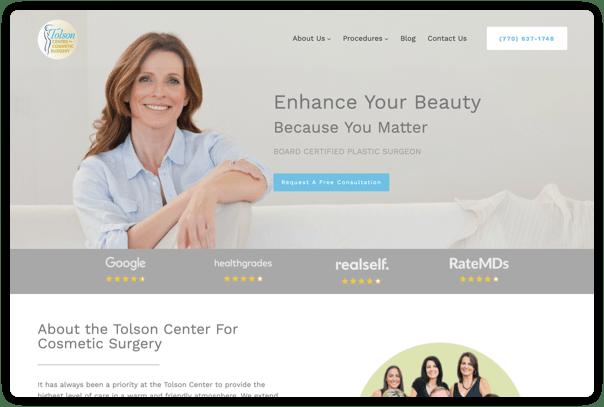 Tolson Website Digital Marketing Results