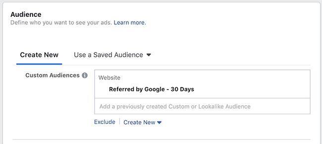 Facebook Website Custom Audience Targeting