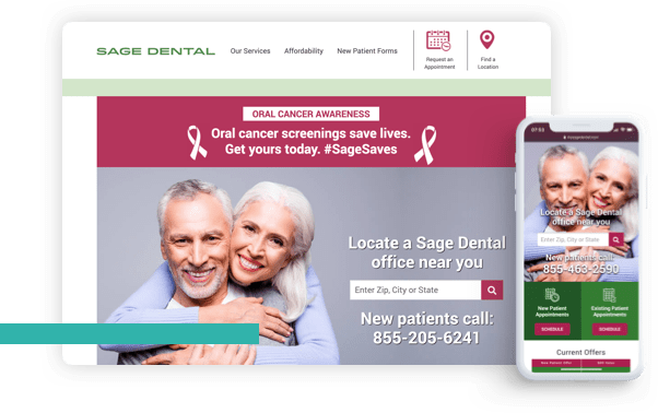 Dentist Web Design Data