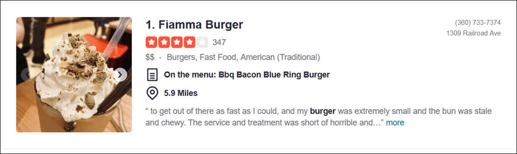yelp review example