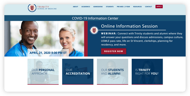 Medical School Website Improvements