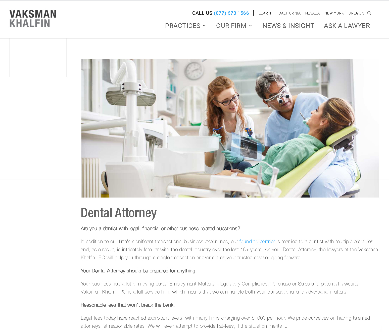 dental law firm branding example