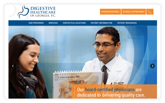 Digestive Healthcare Website