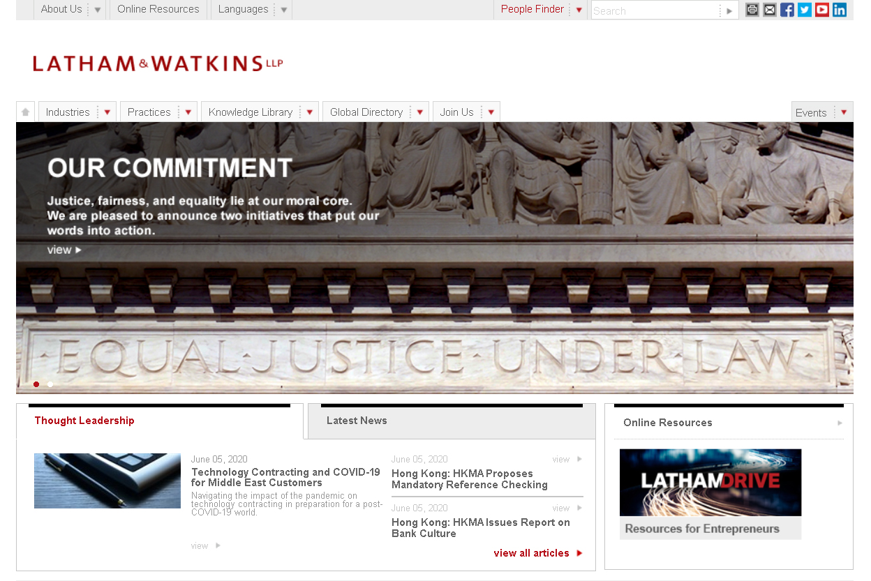 law firm branding example