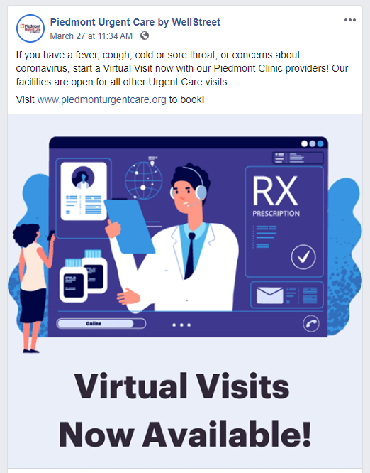 telehealth Facebook Ad