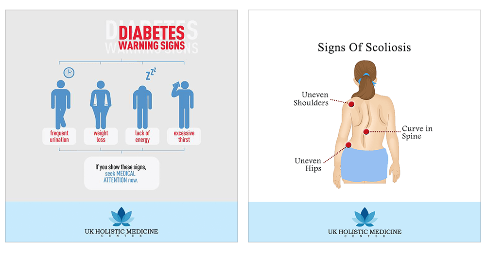 social media content that shares medical warning signs