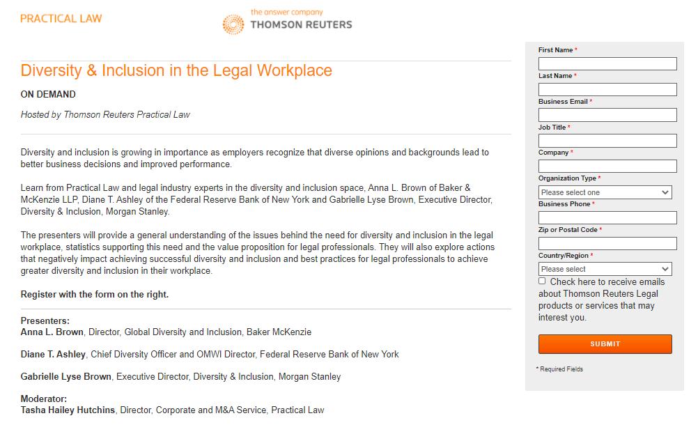 webinars for legal thought leadership