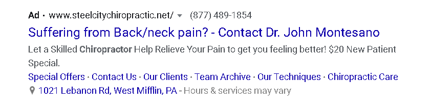 PPC In-Ad offer