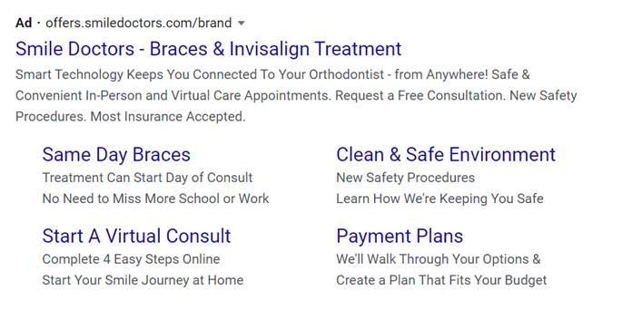 Dental PPC ad campaign