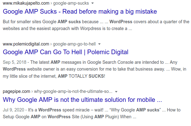Google AMP is going away