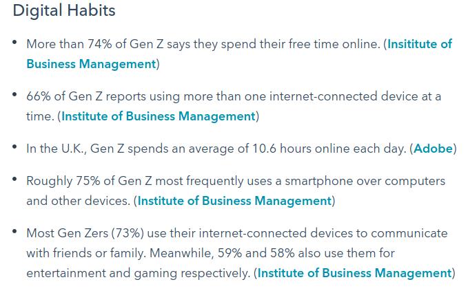 Digital Habits of Gen Z