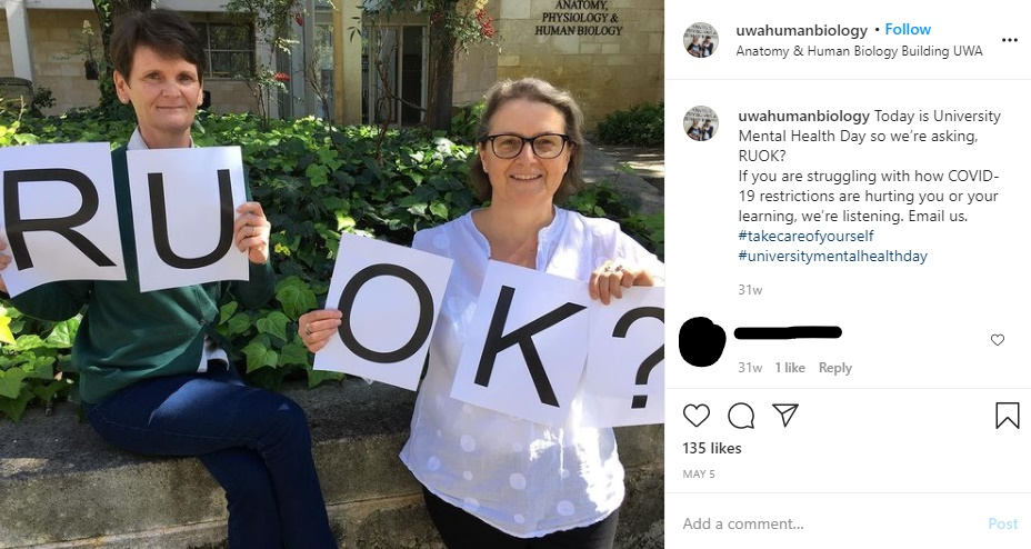 University promoting mental health awareness