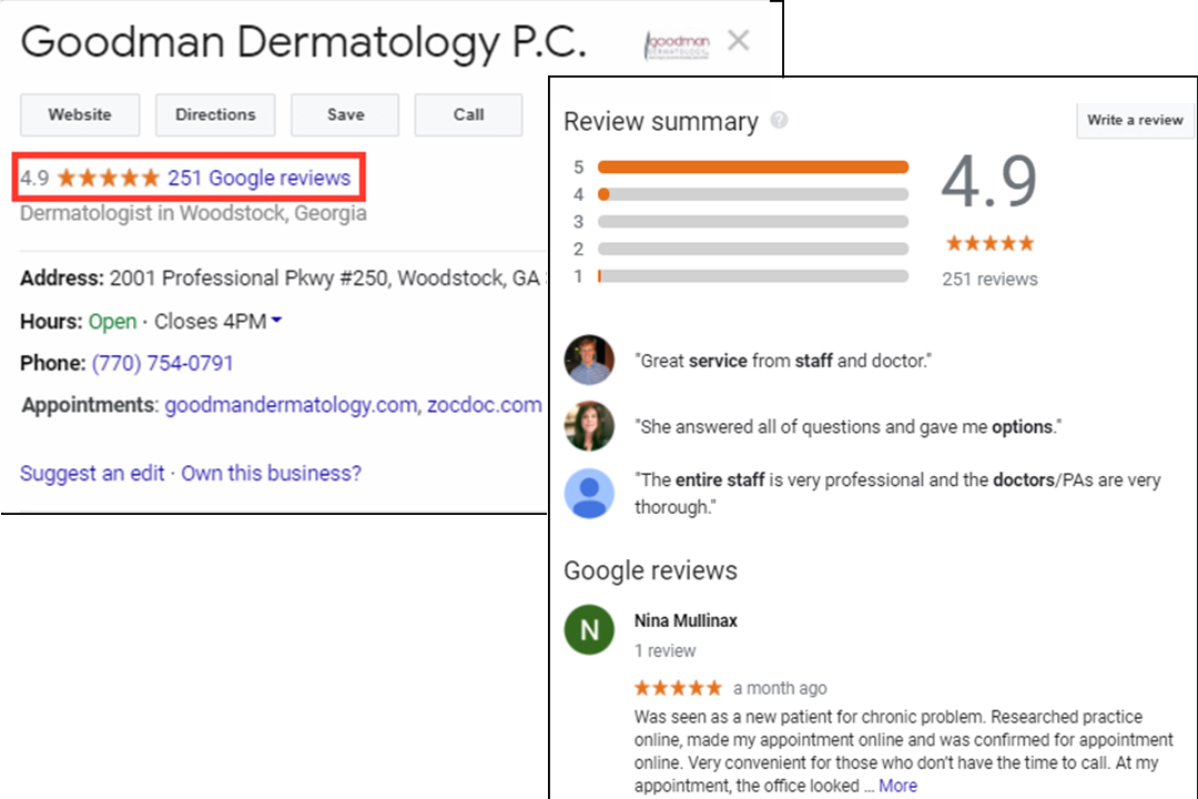 Healthcare Reputation Management via google reviews