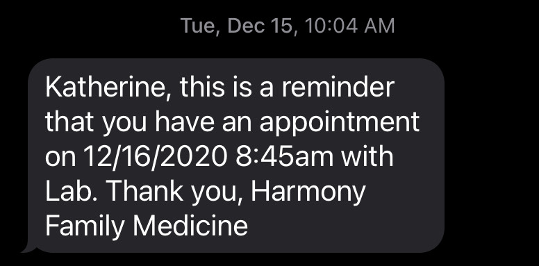 Appointment Reminder for healthcare communication