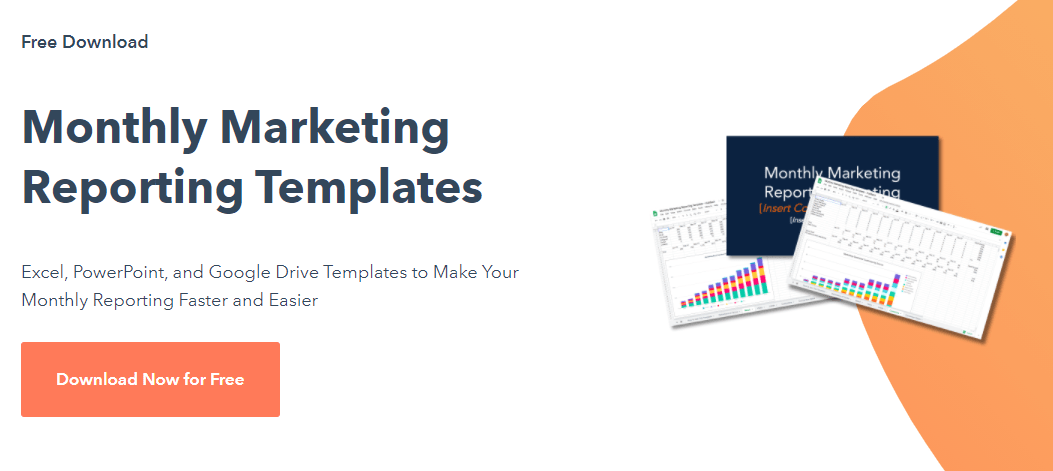 Hubspot Free Monthly Marketing Reporting Templates