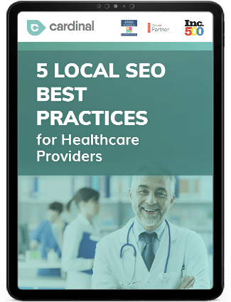 Local SEO best practices for healthcare providers eBook
